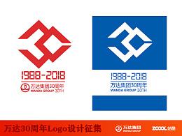 万达30周年logo
