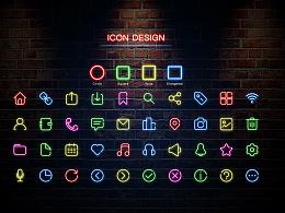 剪影图标制作——霓虹灯效果