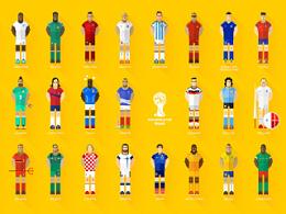 2014巴西世界杯32强群星手机壁纸合集——腾讯游戏TGideas