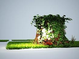 场景设计——老树又长新藤桠