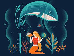插画合集《深海迷梦》