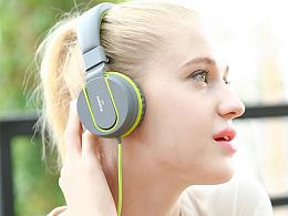 音乐耳机头戴式耳麦带话筒设计