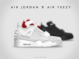 AIR   JORDAN    X    AIR   YEEZY  运动鞋设计稿