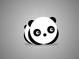 sketch圆形构成 熊猫