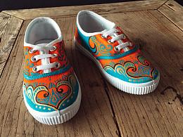 手繪童鞋.「時.光」