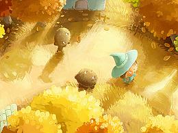 绘本《秋天的小魔女》