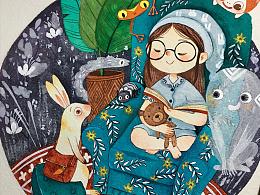 《小兔子听故事》