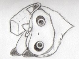 手绘整理1——趴地熊临摹