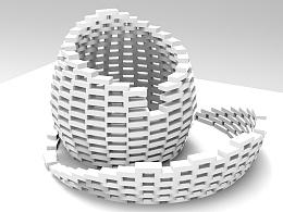 砌块构成艺术小品
