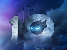 十年来袭!!祝站酷十周年生日快乐!