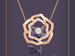 山茶花系列珠宝设计