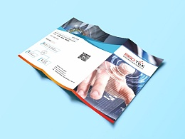 科技公司企业三折页设计