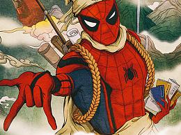 蜘蛛侠中国风海报