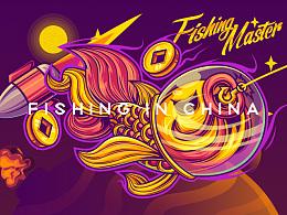 《FISHING》主视觉插画 • 包装