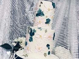 油画风格翻糖蛋糕
