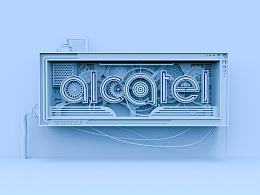 ALCATEL logo设计 大三实习的作品