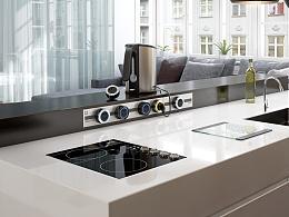 嵌入式轨道插座,创新插座,插座,新型插座,室内设计,高端厨房