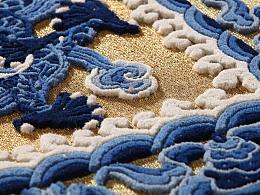 宫毯盘金技艺---《五龙图》