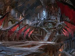 【原创 多图】以前为在TrionWorlds游戏RIFT 画的场景气氛设计