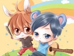 """『℃』小兔兔和小老鼠是一辈子的好盆宇""""O>。<O"""""""