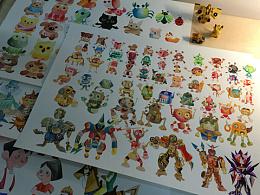 水彩绘画《卡通机器人》系列