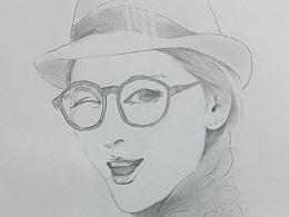 肖像素描作品