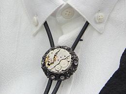 原创设计 潮流小众高街复古宫廷风蒸汽朋克表芯波洛领带bolo tie