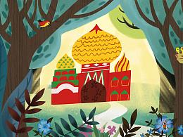 儿童绘本——金色的房子