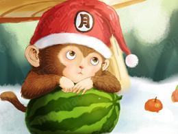 小猴子和她的西瓜