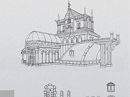 原画设计-场景组件复古洋房