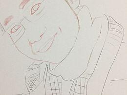 人像速写 手绘过程图 画着玩