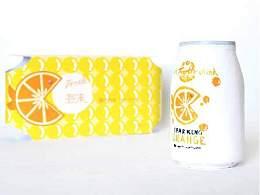 泡沫果汁汽水包装设计