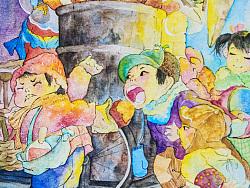 老童谣-水彩手绘