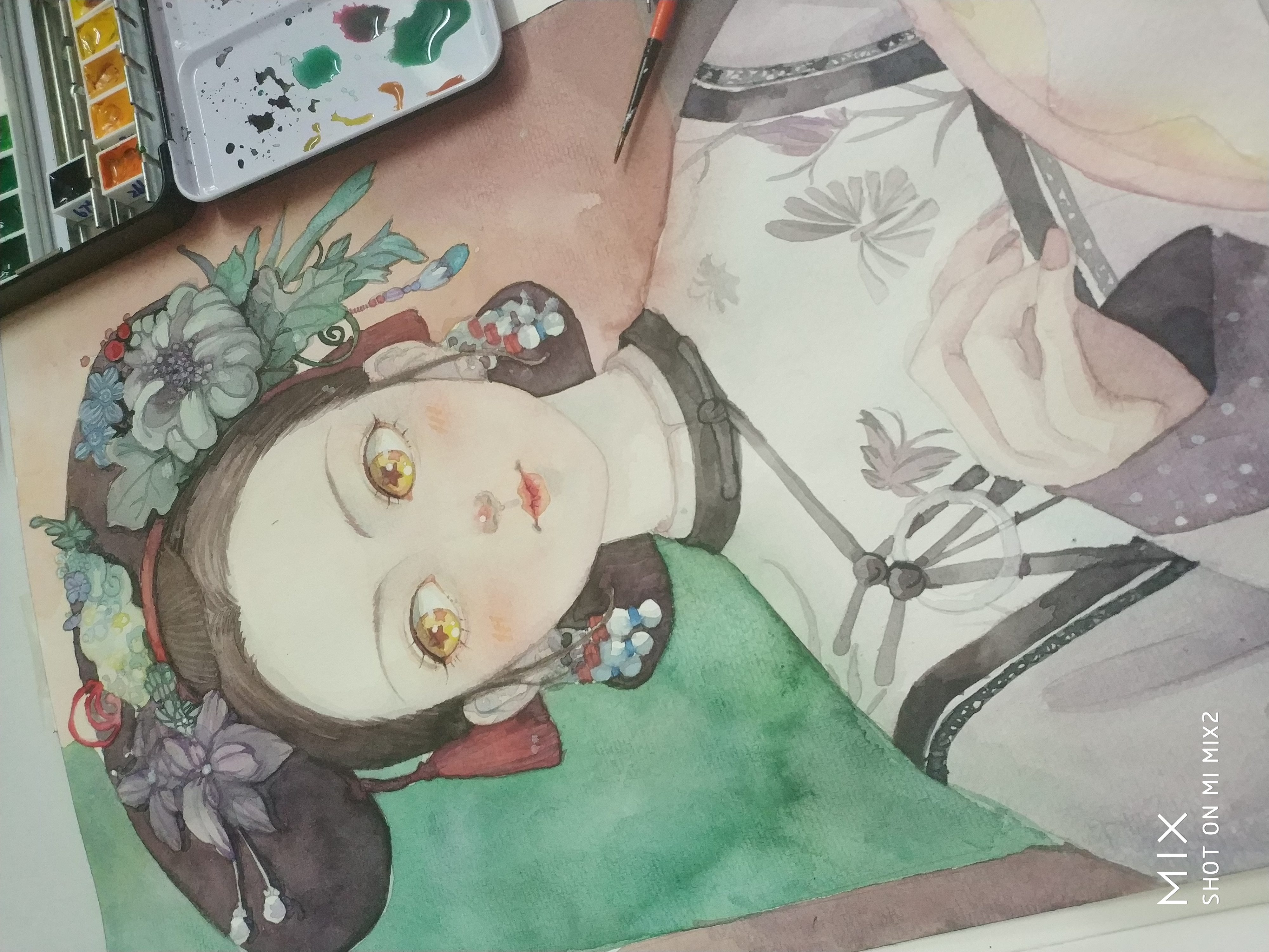 延禧攻略小璎珞,水彩手绘