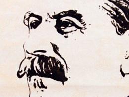 臧金龙索契冬奥会主题钢笔画作品《斯大林》