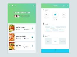 UI界面设计 APP界面设计 美食界面 简单即是美