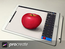 Procreate手绘习作·苹果