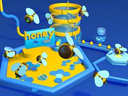 蜂蜜糖果 3D 动画场景建模