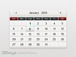 抽屉日历--UI设计练[练习作品]