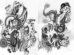 ChEnyi2012新作《龙年大吉》之《玲。腾》《扇。舞》扫描稿件