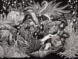 """""""窒息微观""""系列二号实验作品————《岸殇》创作过程"""