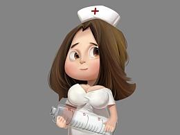 Q版游戏角色设计1—护士姐姐