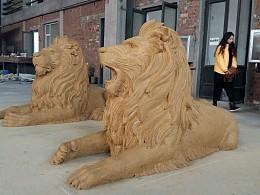 另一对狮子泥稿