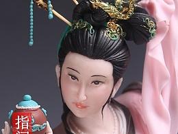 贺加贵面塑软陶(古典仕女 )