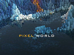Pixel world for Cinema4D