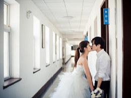 我们的自拍婚纱照