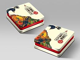 茶包装铁盒-七彩孔雀设计提案