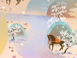 动物插画—马