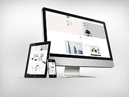 瓷器垂直电商网页设计
