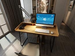 原创作品: 家具3D效果图-书架、书桌、电脑桌、沙发